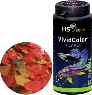 O.S.I. Vivid Color Flakes (0030132) - Pływająco tonący pokarm wybarwiający w płatkach dla ryb tropikalnych
