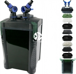 AQUA NOVA NCF-1200 (NCF-1200) - Filtr zewnętrzny do akwarium maks. 400l