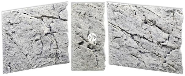 Back To Nature Slim Line White Limestone (03000089) - Płaskie tło modułowe z motywem skalnym do akwarium i terrarium