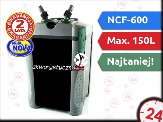 AQUA NOVA NCF-600 - Filtr zewnętrzny do akwarium maks. 112l