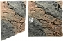 Back To Nature Slim Line Basalt/Gneiss (03000095) - Płaskie tło modułowe z motywem skalnym do akwarium i terrarium 60B 50x55cm
