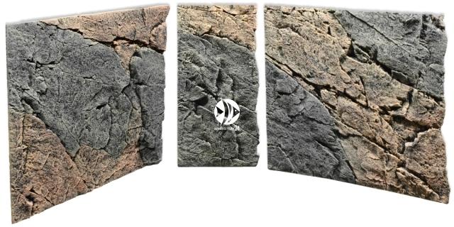 Back To Nature Slim Line Basalt/Gneiss (03000095) - Płaskie tło modułowe z motywem skalnym do akwarium i terrarium