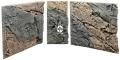 Back To Nature Slim Line Basalt/Gneiss (03000095) - Płaskie tło modułowe z motywem skalnym do akwarium i terrarium 50A 50x45cm