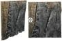 Back To Nature Slim Line Amazonas (03000101) - Płaskie tło modułowe z motywem korzenia i skał do akwarium i terrarium 50B 50x45cm