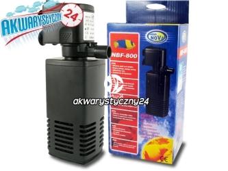 AQUA NOVA FILTR WEWNETRZNY NBF-800 l/h - Wydajny filtr do akwarium do 150L o mocy 15W