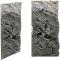 Back To Nature Slim Line River (03000110) - Płaskie tło modułowe z motywem skalnym do akwarium i terrarium 50C 20x45cm