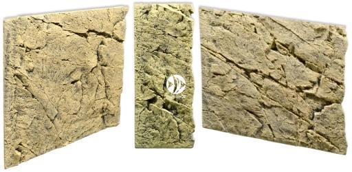 Back To Nature Slim Line Sand (03000131) - Płaskie tło modułowe z motywem skalnym do akwarium i terrarium