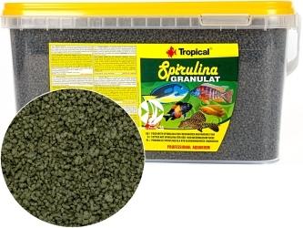 TROPICAL Spirulina Granulat 5L/2,2kg (60338) - Tonący granulat, pokarm roślinny z dodatkiem glonów Spirulina platensis