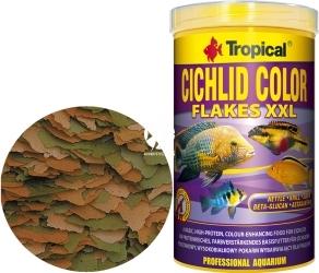 TROPICAL Cichlid Color - Podstawowy, wysokobiałkowy pokarm wybarwiający dla pielęgnic