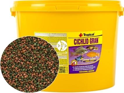 TROPICAL Cichlid Gran - Podstawowy, wybarwiający pokarm granulowany z beta-glukanem dla pielęgnic