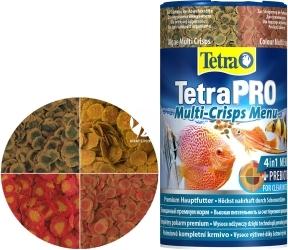 TETRA TetraPro Multi-Crisps Menu 250 ml (T197077) - 4 pokarmy TetraPro w jednym opakowaniu z wygodnym dozownikiem.