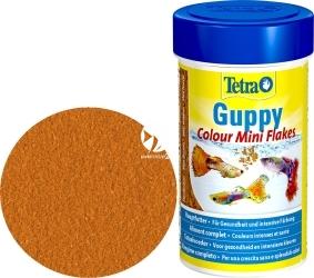 TETRA Guppy Colour Mini Flakes 250 ml (T197190) - Płatkowany pokarm wybarwiający dla gupików.