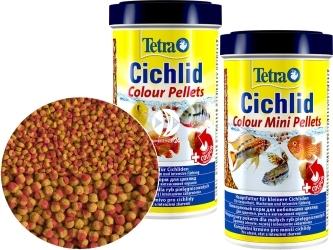 TETRA Cichlid Colour Pellets (T197343) - Pokarm poprawiający wybarwienie w granulkach dla pielęgnic.