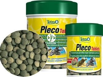 TETRA Pleco Tablets (T199217) - Pokarm w postaci tonących tabletek dla roślinożernych ryb dennych.