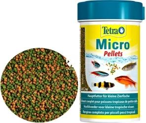 TETRA Micro Pellets 100 ml (T277496) - Pływający pokarm w drobnych granulkach dla ryb tropikalnych.