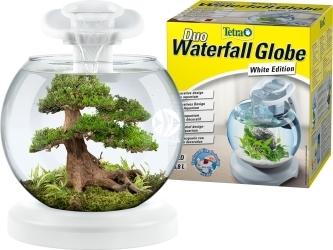 TETRA Duo Waterfall Cascade Globe 6,8l (T279957) - Nano akwarium w kształcie kuli z filtrem i oświetleniem.