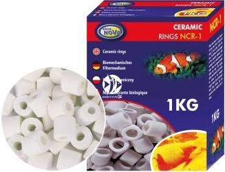 AQUA NOVA Ceramic Rings 1kg (NCR-1) - Ceramika, wkład do filtrów w akwariach i oczkach wodnych