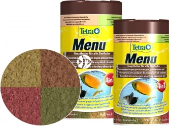 TETRA TetraMin Menu (T767386) - Zestaw 4 pokarmów dla ryb akwariowych w puszce.