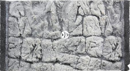 EKOL Tło Płaskie Szare (PLSZ40x25) - Szare tło strukturalne do akwarium z motywem skalnym.