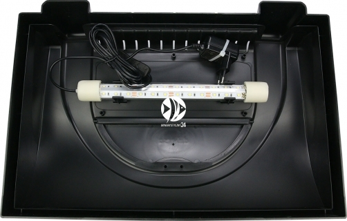DIVERSA Pokrywa Aristo LED 40x25cm (1x6W) (117383) - Obudowa do akwarium z oświetleniem LED z tworzywa sztucznego