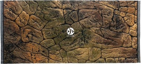 EKOL Uszkodzone Tło Płaskie 120x60 cm (PL120x60) - Tło strukturalne do akwarium z motywem skalnym