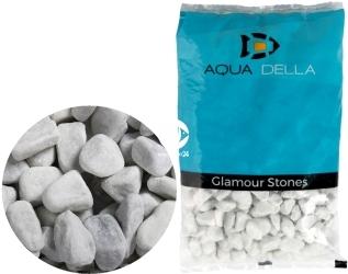 AQUA DELLA Gravel Carrara White (257-447581) - Biały żwir ozdobny o dużej granulacji (12-16mm).