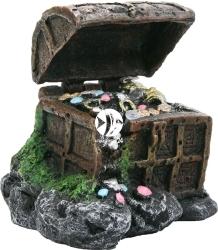 AQUA DELLA Treasure Case (234-107966) - Skrzynia ze skarbem + kamień napowietrzający, dekoracja do akwarium