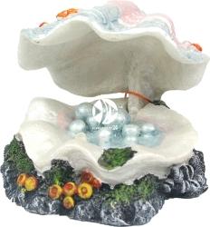 AQUA DELLA Shell-S (234-108154) - Muszla z perłami + kamień napowietrzający, dekoracja do akwarium