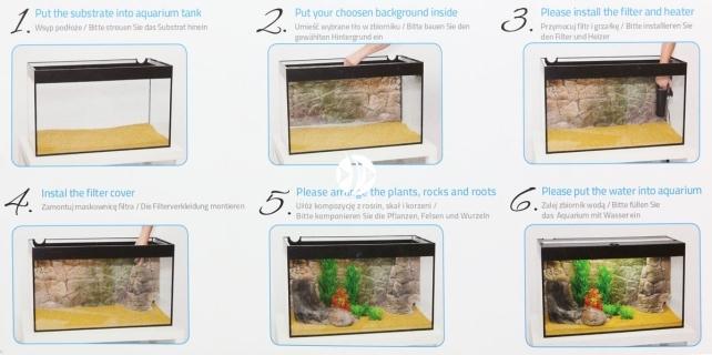 EKOL Tło Skała (SK50x30) - Tło do akwarium z motywem skał, imitujące biotopy bez roślin jak Malawi, Tanganika
