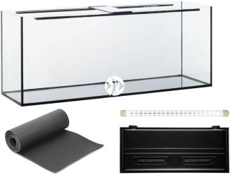 Zestaw Akwariowy 300l z oświetleniem LED - Zawiera: akwarium, pokrywa z oświetleniem LED, podkładka