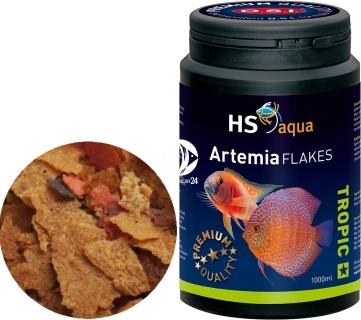 O.S.I. Artemia Flakes (0030202) - Pływająco tonący pokarm dla mięsożernych ryb akwariowych i pielęgnic