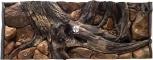 EKOL Tło Amazonka (AM50x30) - Tło do akwarium z motywami korzeni i skał, imitujące biotop Amazonii. 120x60 cm