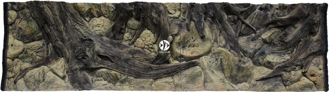 ATG Tło Amazonka (AM50x30) - Tło do akwarium z motywami korzeni i skał, imitujące biotop Amazonii.
