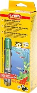 SERA Grzałka 25W (08700) - Wysokiej jakości kwarcowa grzałka do akwarium z termostatem