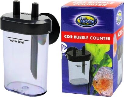 AQUA NOVA CO2 Bubble Counter (NCO2-7) - Niewielki licznik bąbelków posiadający dodatkowe przyssawki