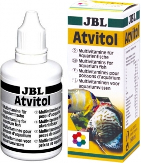JBL Atvitol 50ml (20300) - Witaminy w płynie i dodatek do pokarmów dla ryb akwariowych.