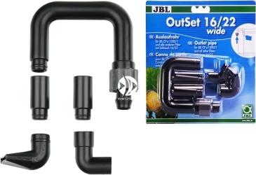 JBL OutSet Wide  16/22 mm (60156) - Wylot filtra z szeroko strumieniową końcówką, do akwarium