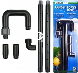 JBL OutSet Spray  16/22 mm (60158) - Wylot filtra (deszczownica) z kolankiem