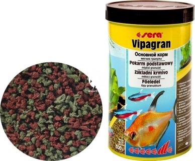 SERA Vipagran (00201) - Pływający pokarm podstawowy w granulacie dla ryb akwariowych wysokiej jakości