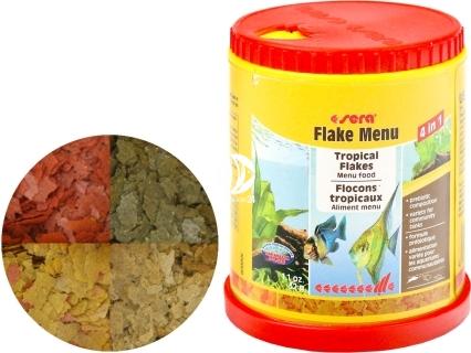 SERA Flake Menu 150ml (00060) - Wieloskładnikowy pokarm dla ryb ozdobnych
