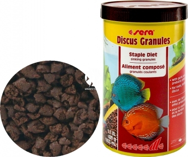 SERA Discus Granulat (00300) - Granulat dla ryb akwariowych, zwłaszcza dyskowców