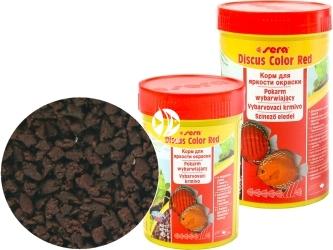 SERA Discus Color Red - Tonący granulat specjalny dla paletek żółtych i czerwonych