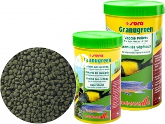SERA Granugreen - Tonący granulat roślinny dla pielęgnic afrykańskich