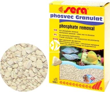 SERA Phosvec Granulat 500g (08415) - Wkład do filtra w akwarium usuwający fosforany