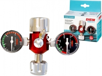 EHEIM Druckminderer mit Manometern (6063050) - Reduktor ciśnienia CO2 z dwoma manometrami