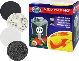 AQUA NOVA Media Pack NCF-600/NCF-800 (MPACK 600/800) - Zestaw wkładów do filtra NCF 600/NCF 800