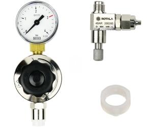 ROTALA Zestaw CO2 do akwarium nr. 11 - Zawiera: Reduktor z jednym manometrem, zaworek precyzyjny, uszczelka