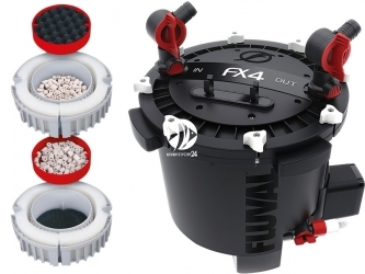 FLUVAL FX4 (A214) - Filtr zewnętrzny do akwarium 700-1000l