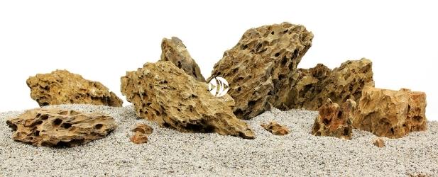Zestaw Skał do Akwarium Roślinnego 100cm (nr. 18) - Zawiera skały premium dragon stone o wymiarach: 5 - 15cm (2kg), 15 - 25cm (5kg), powyżej 25cm (14kg)