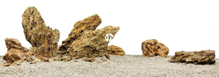 Zestaw Skał do Akwarium Roślinnego 120cm (nr. 19) - Zawiera skały premium dragon stone o wymiarach: 5 - 15cm (2kg), 15 - 25cm (6kg), powyżej 25cm (13kg)